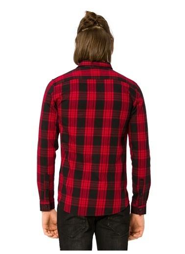 LC Waikiki Slim Fit Ekose Gömlek Kırmızı